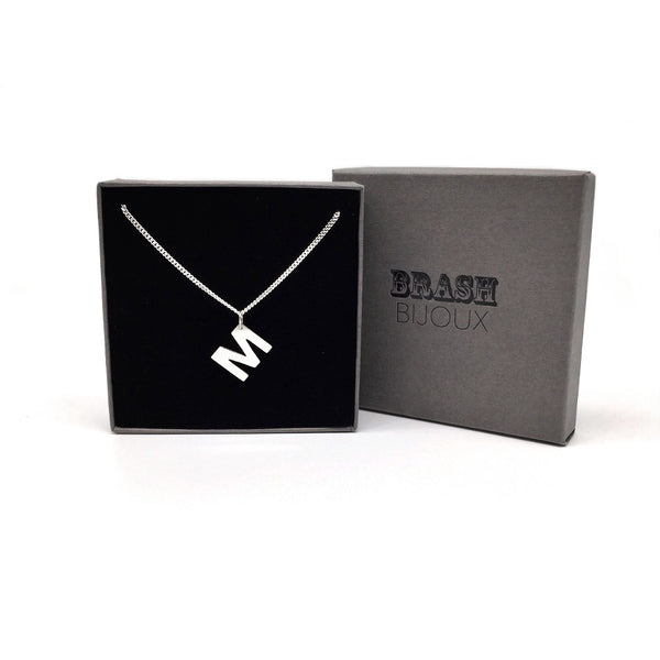 Initial pendant from Brash Bijoux - Gifts for her