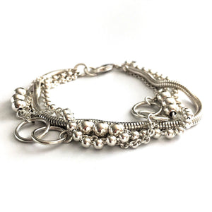 Signature Multi Chain Bracelet