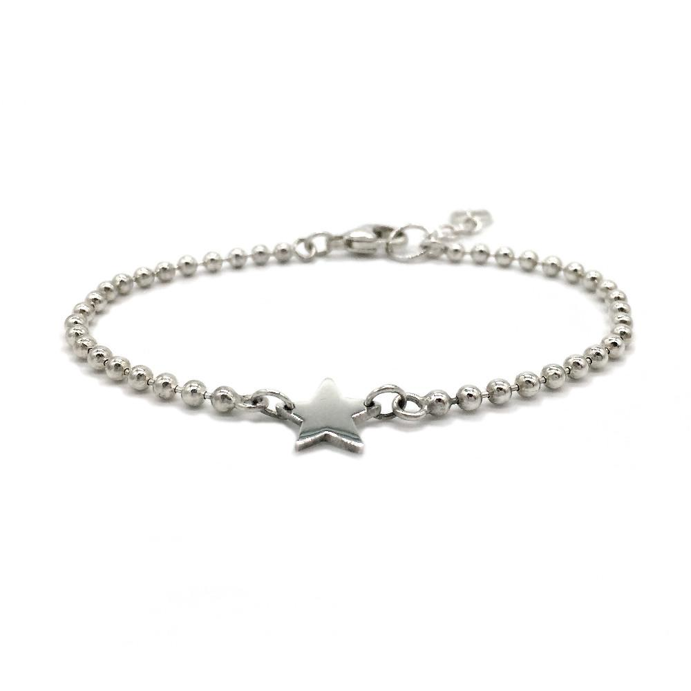 The Star Bracelet is the perfect arm candy to wear for all occasion. Feminine style with a Brash edge.