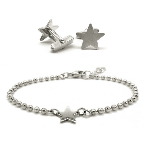 Star Bracelet and Cufflink Set
