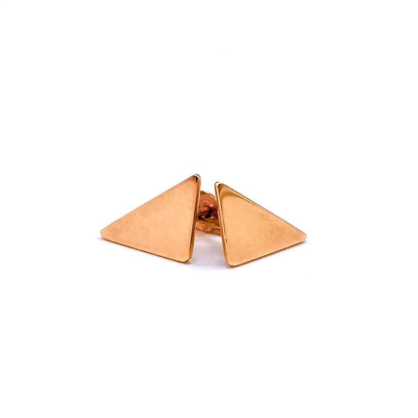 Tiny Rose Gold Triangle Studs