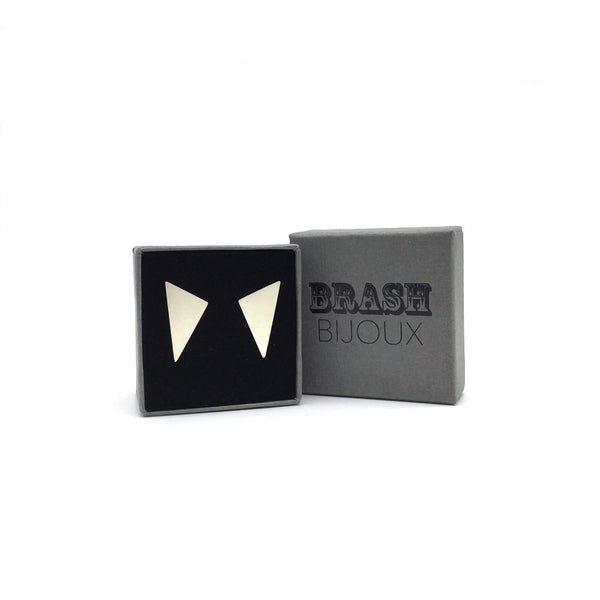 The Triangle Studs in branded gift box