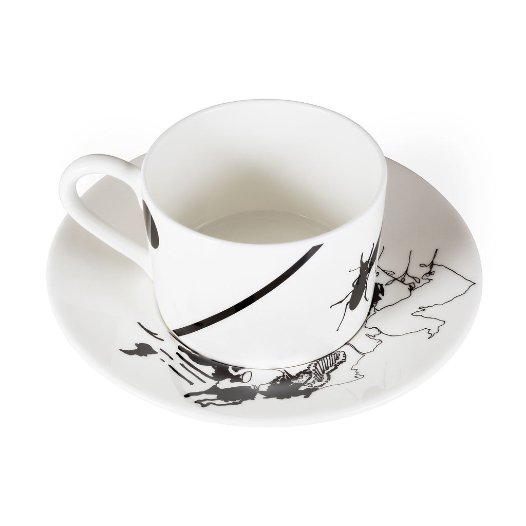 Stag, Fine Bone China Cup & Saucer - Harley Boden