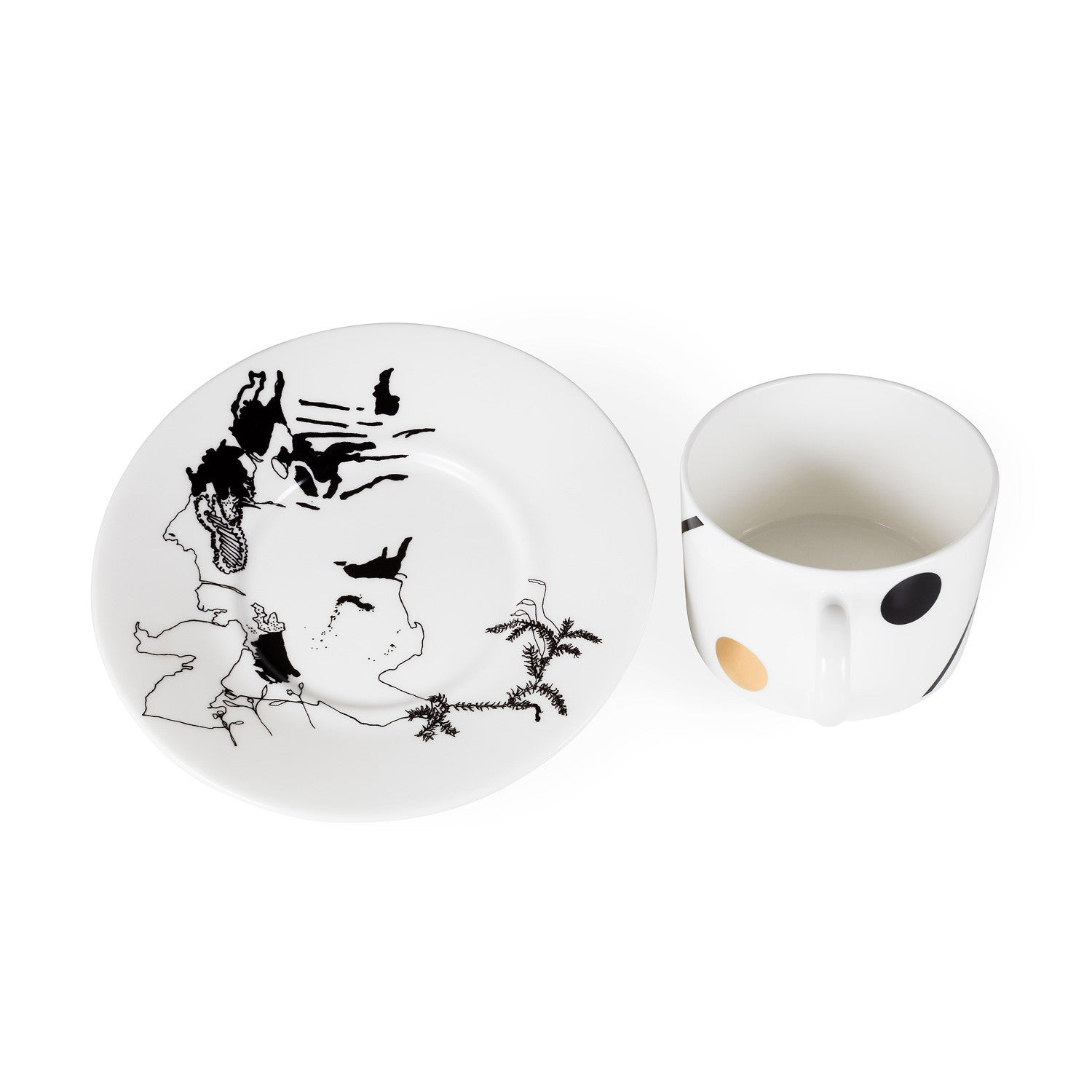 Stag Cup & Saucer - Harley Boden