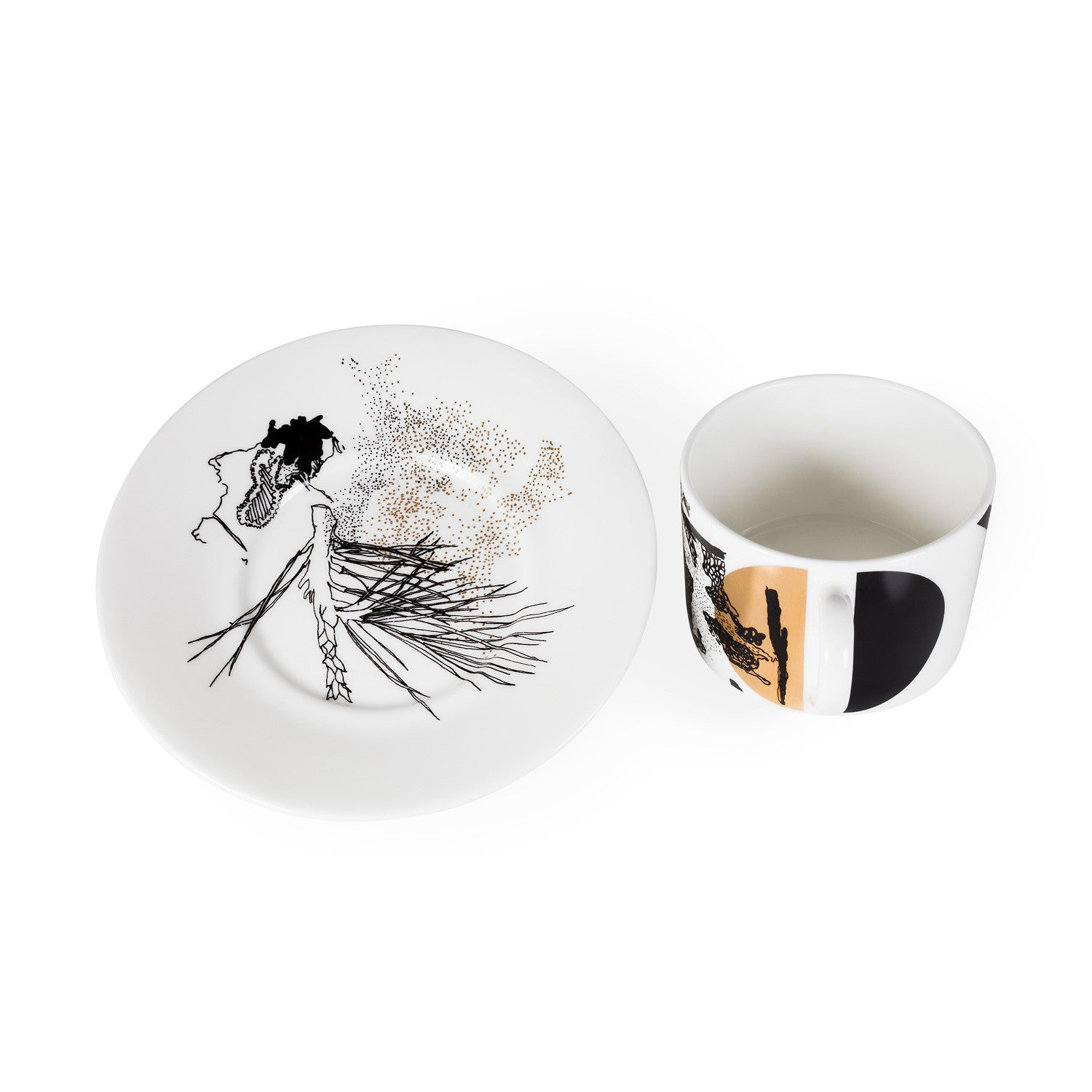 Bracken, Fine Bone China Cup & Saucer - Harley Boden