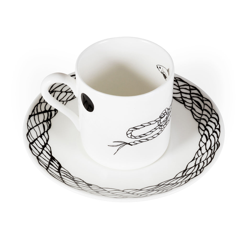 Rope, Fine Bone China Espresso Cup & Saucer - Harley Boden