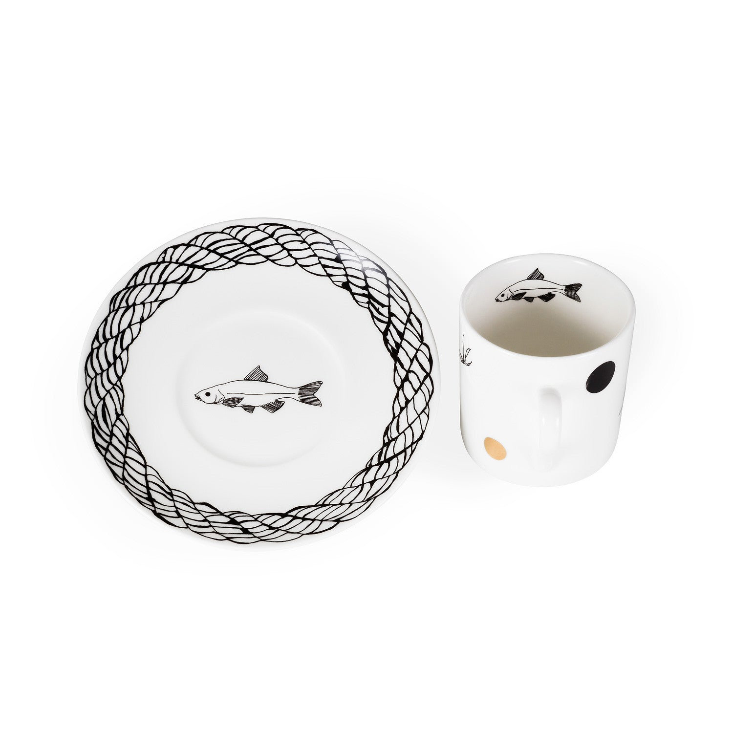Rope Espresso Cup & Saucer - Harley Boden