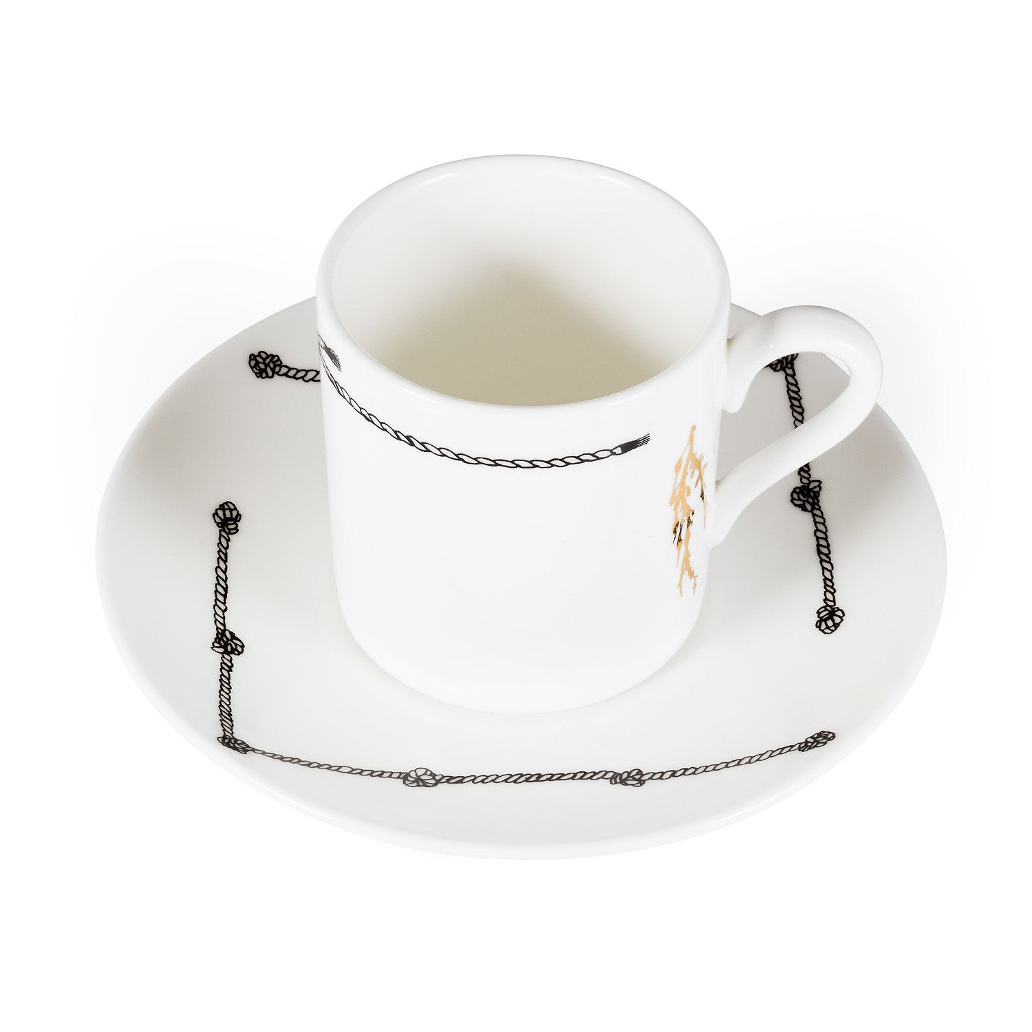 Signal, Fine Bone China Espresso Cup & Saucer - Harley Boden