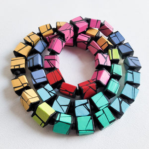 Modern hand painted wood Jewelry