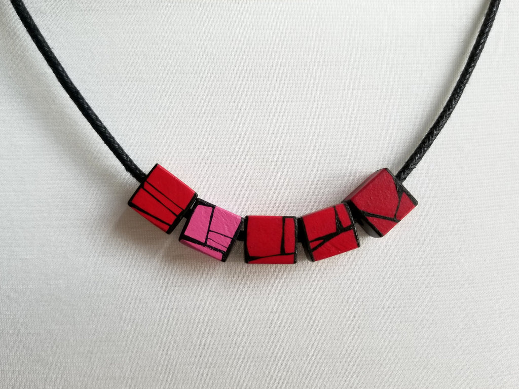 Red Wood Necklace