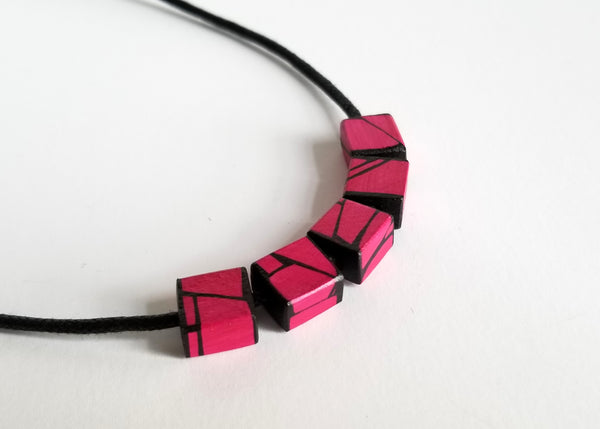 Violet Wood Necklace