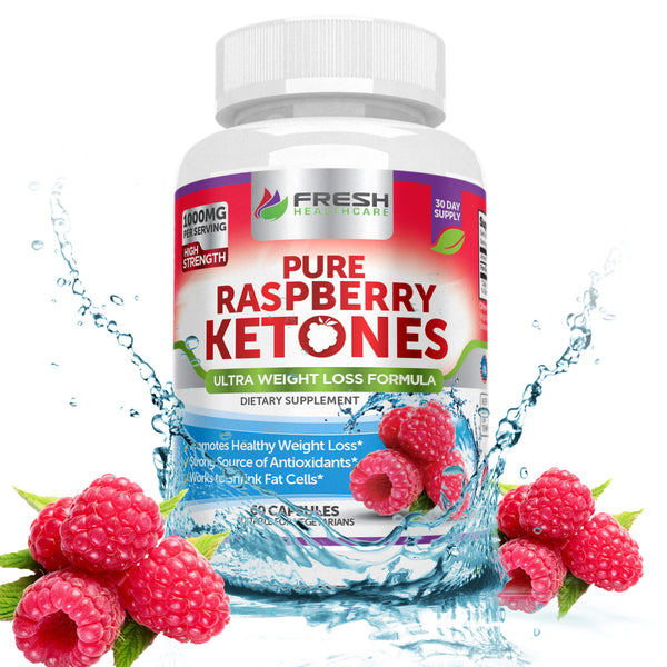 ... Pure 100% Raspberry Ketones MAX 1000mg Per Serving - 180 Vegan Capsules  ...