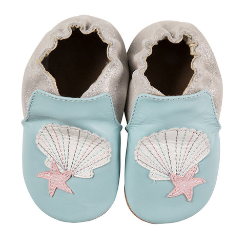 Shell and Sand Robeez Soft Sole Shoes