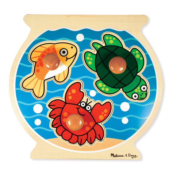 Fish Bowl Jumbo Knob Wooden Puzzle - 3 Pieces