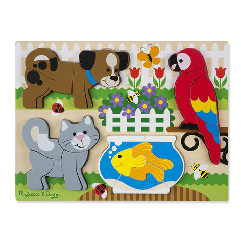 Large Wooden Chunky Jigsaw Puzzle Pets