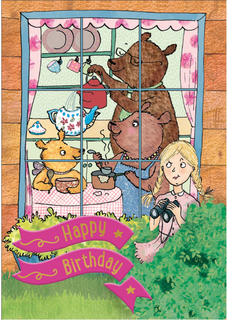Birthday Story Card: Goldilocks and the Three Bears