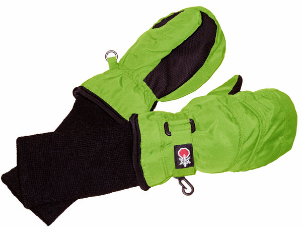 SnowStoppers Mittens - Lime Green
