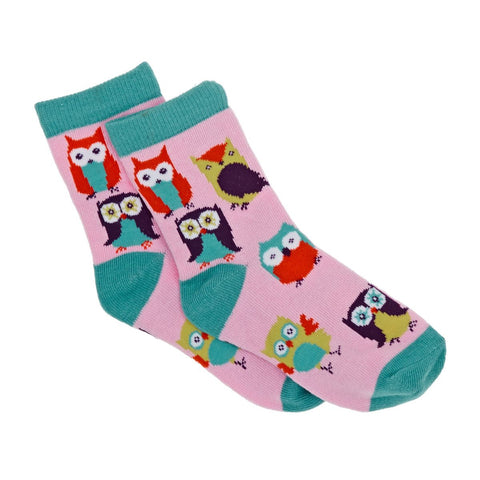 Hatley Crew Socks - Party Owls
