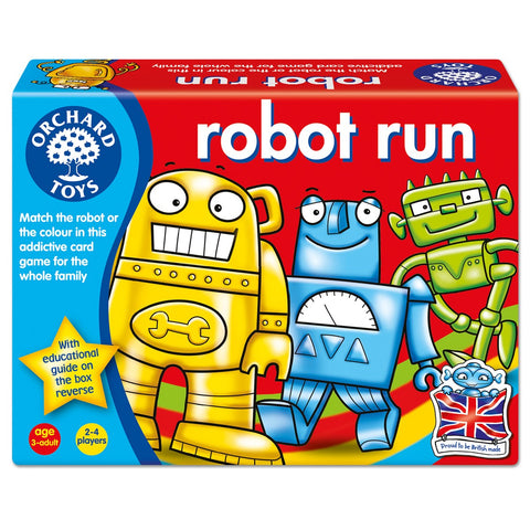 Robot Run - Orchard Toys Matching Game - Ages 3 Years+