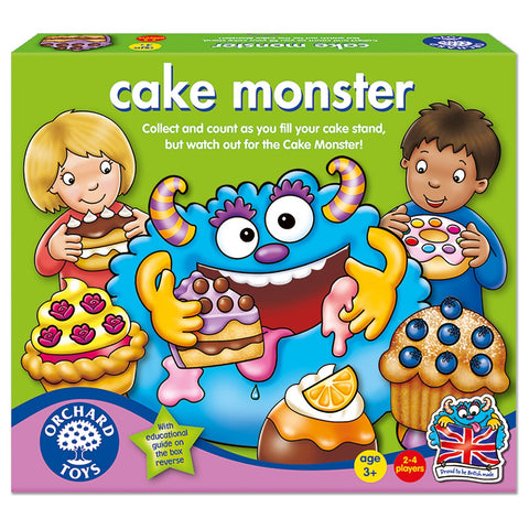 Cake Monster - Orchard Toys Educational Board Game Ages 3 Years+