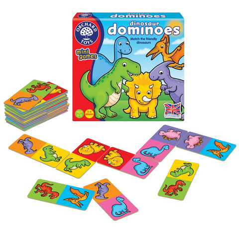 Dinosaur Dominoes - Orchard Toys Mini Game Ages 3 - 5 Years