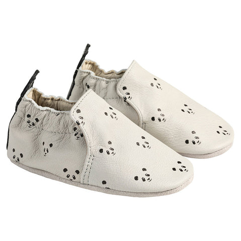 Robeez Piper Panda Light Grey Soft Sole Shoes