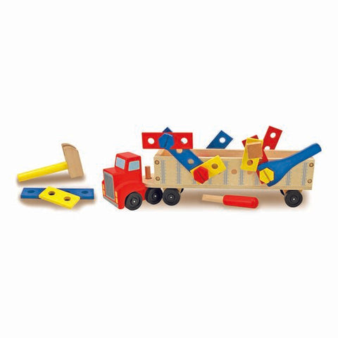 Big Truck Building Set - Wooden Construction Vehicle Age 3+