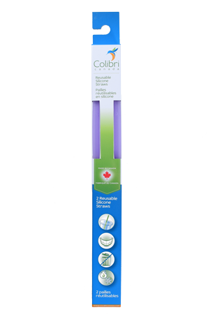 Colibri Reusable Silicone Straws - Pack of 2