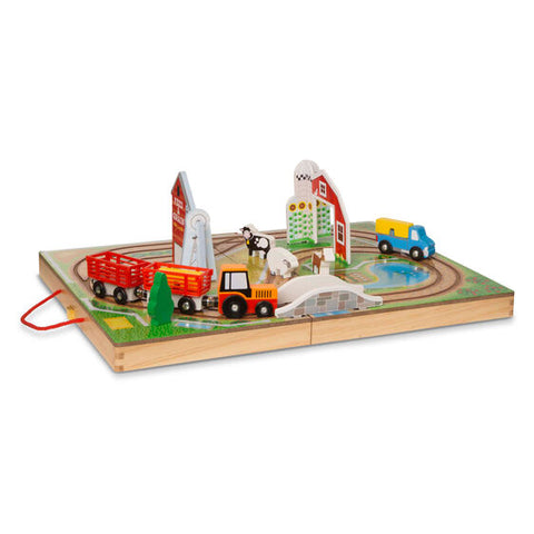 Take Along Farm - Tabletop Vehicle and Farm Animal Set with Carry Case