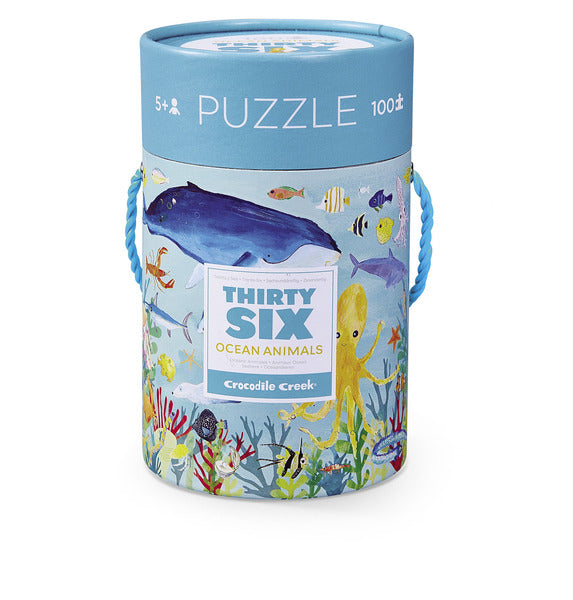 Thirty Six Ocean Animals - 100 Piece Puzzle