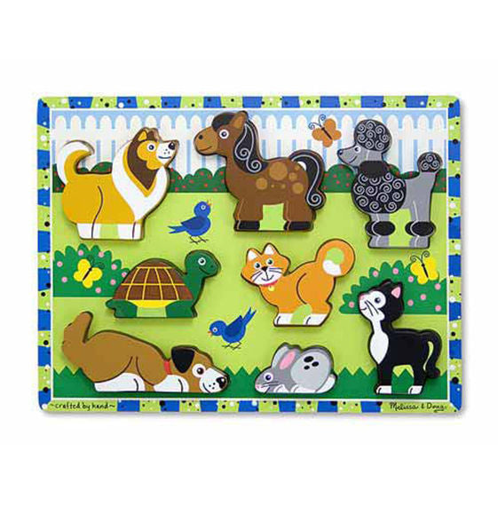 Wooden Chunky Pets Puzzle - 8 Pieces