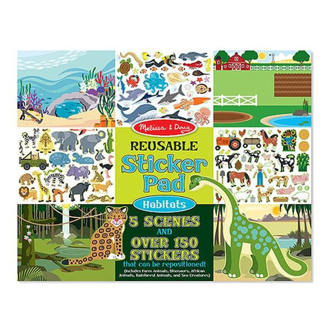 Reusable Stickers Pad - Habitats
