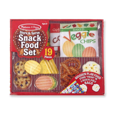 Store and Serve Snack Food Set - Wooden Play Food