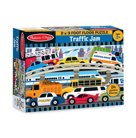 24 Piece Floor Jigsaw Puzzle Traffic Jam