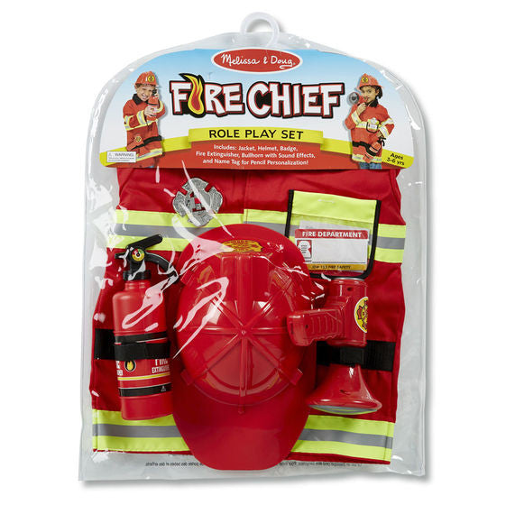 Fire Chief Costume Role Play Set