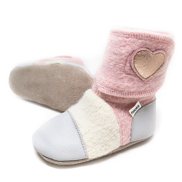 Nooks Infant / Toddler Booties Snowberry