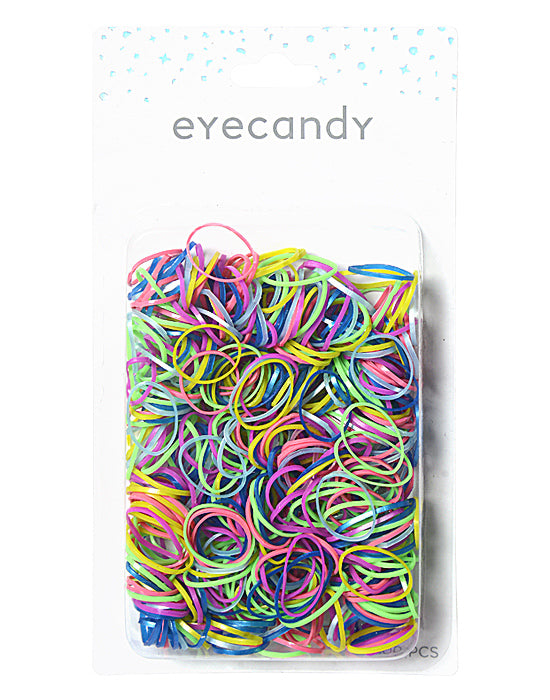 Eyecandy - 500 Pack Ouchless Hair Elastics