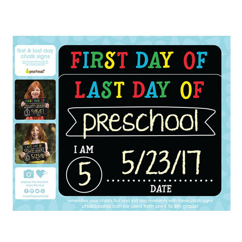 First Day / Last Day Chalk Sign Board