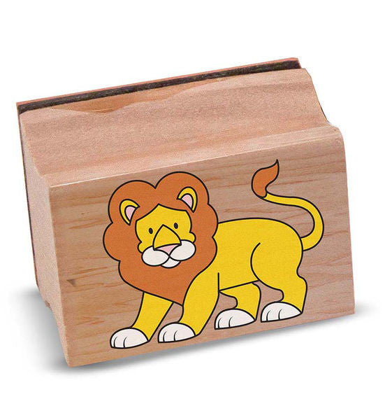 Safari Animals Wooden Stamp Set