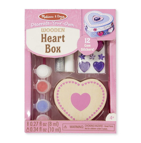 Decorate Your Own Wooden Heart Box