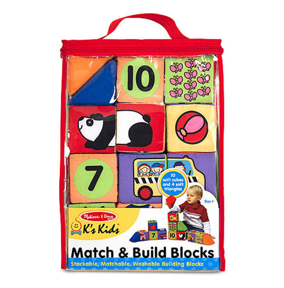 Ks Kids Match & Build Soft Blocks