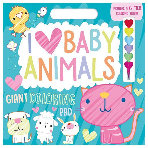 I LOVE Baby Animals - Giant Colouring