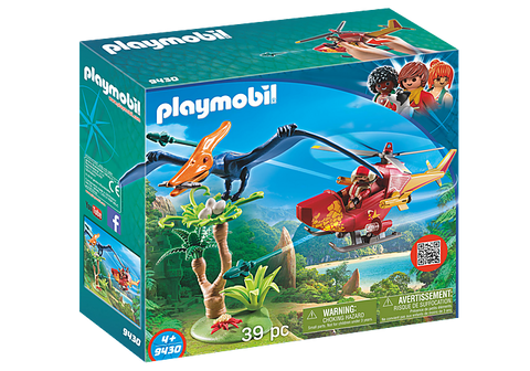 Playmobil The Explorers - Adventure Copter with Pterodactly (9430) Age 4+
