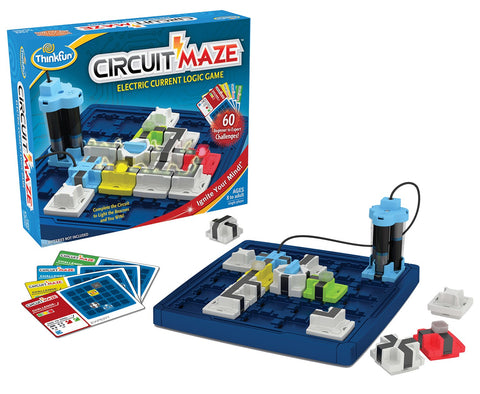 Circuit Maze - Think Fun 1 Player Electric Current Logic Game Age 8 to Adult