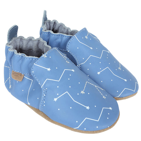 Star Gazer Blue Robeez Soft Sole Shoes