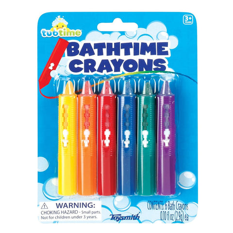 6 Bath Crayons - Safe and Non Staining