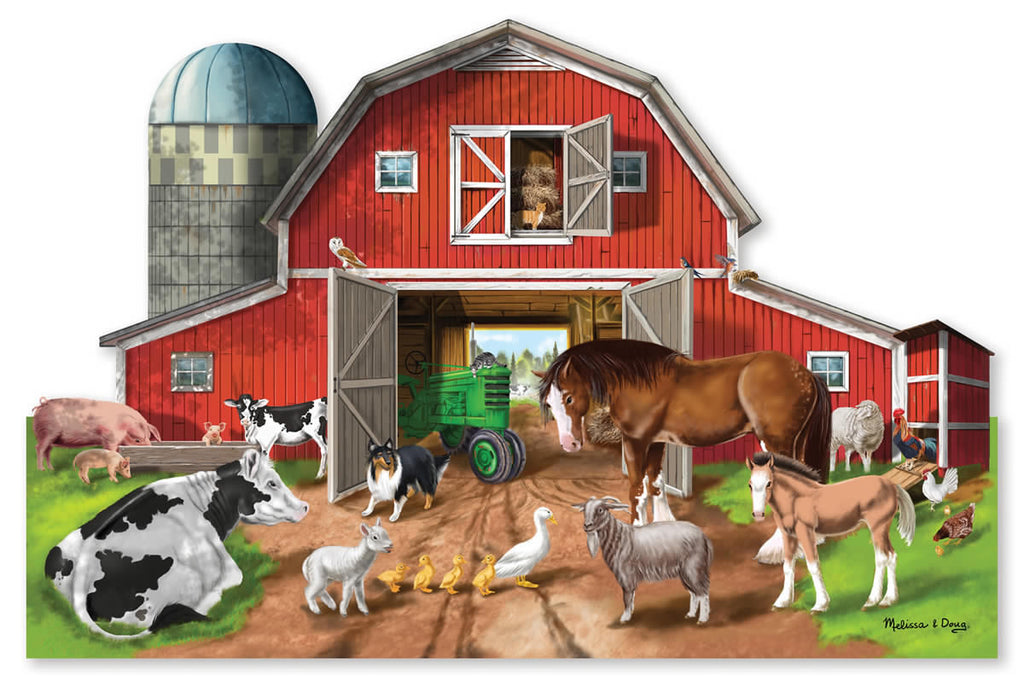 Busy Barn Shaped Floor Puzzle