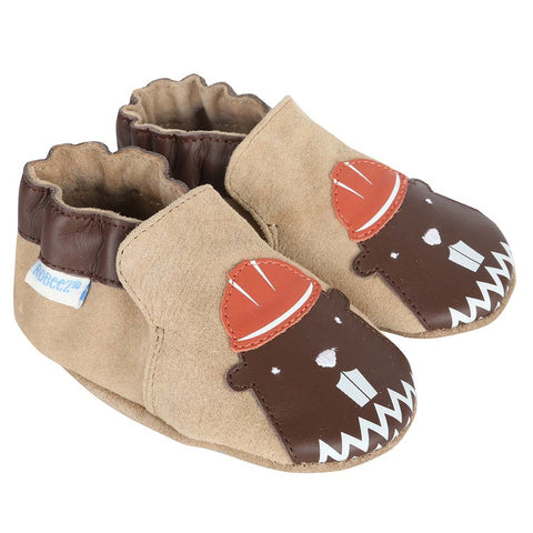 Robeez Beaver Brown Soft Sole Shoes