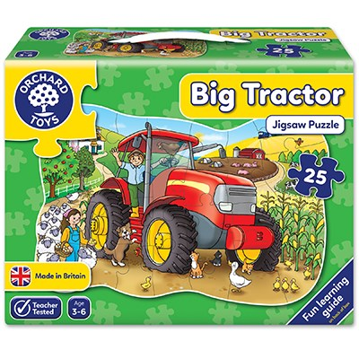 Big Tractor Jigsaw Puzzle Orchard Toys - 3 Years +