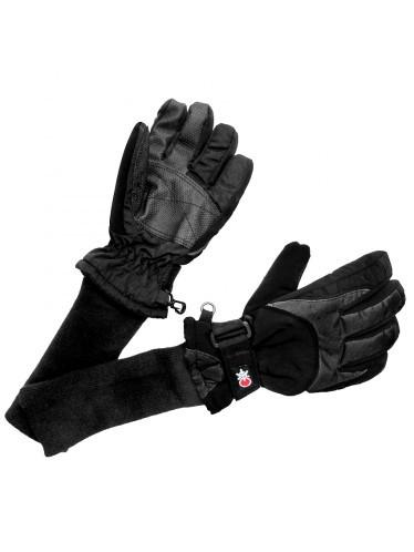 SnowStoppers Ski and Snow Board Gloves  Black & Grey